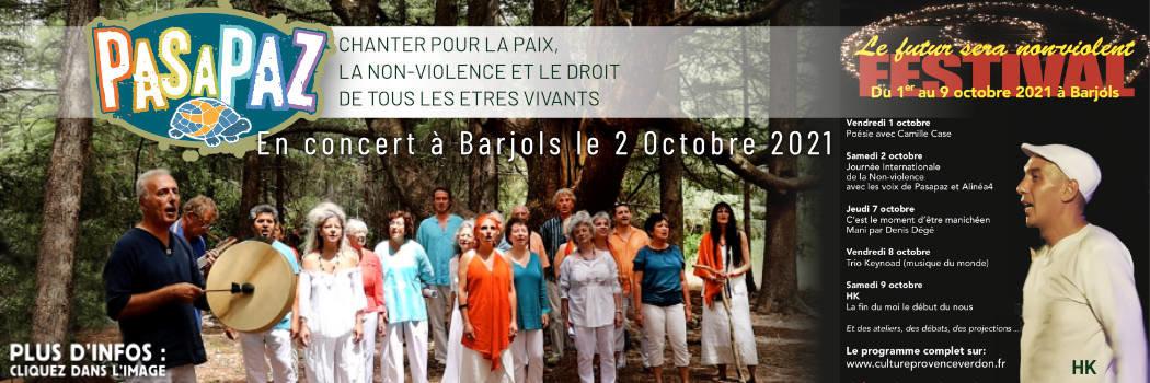 concert pasapaz 2octobre2021 à barjols